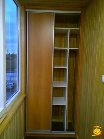 Изготовление шкафа на лоджию по индивидуальным размерам.